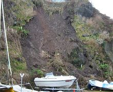 Coastal slope collapse - Tenby