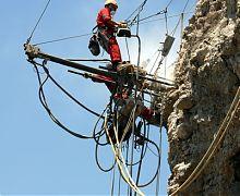 Rock bolting using drifter rig - Gibraltar