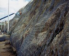Rock netting to motorway cutting - Eire
