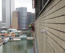 Installation of vertical garden support system - London