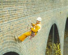 Stuctural inspection of brickwork rail viaduct