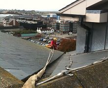 Gutter clearance & roof inspection