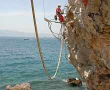 Rock bolting using drifter rig and fibreglass bolts - Gibraltar