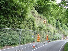 Slope preparation and vegetation removal